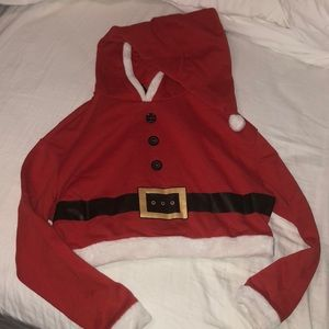 Cropped Santa hoodie